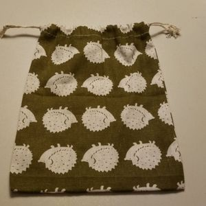 "Hedgehog 9 1/2"" x 8 1/2"" Drawstring Bag"